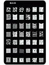 nail art stämpling / stamper bild mall platta spik schabloner / formar för akryl spik tips MLS serie nr.3