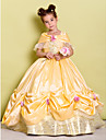 Lanting Bride Ball Gown Floor-length Flower Girl Dress - Taffeta Off-the-shoulder with Bow(s) / Flower(s)