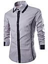 Chemises Melange de coton ) - HOMMES - pour Tous les jours Manches longues