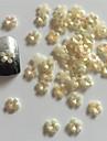 Blomma/Bröllop - Finger - Nagelsmycken - av Akryl - 10 - styck 7X5X0.1 - cm