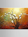 Oil Painting Magnolia Denudata Flower Abstract Hand Painted Canvas with Stretched Framed