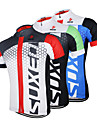 ARSUXEO® Cycling Jersey Men\'s Short Sleeve Bike Breathable / Quick Dry / Anatomic Design / Front Zipper Jersey / Tops 100% Polyester