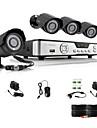 Zmodo 4 CH Key DVR 4 Utomhus 600TVL Dag Natt CCTV Home Security Camera System