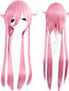 Perruques de Cosplay Mirai Nikki Gasai Yuno Rose Long / Droite Anime Perruques de Cosplay 80 CM Fibre resistante a la chaleur Feminin