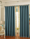 Un Panneau Le traitement de fenetre Rustique Moderne Neoclassique Europeen Designer , Solide Chambre a coucher Polyester MaterielRideaux