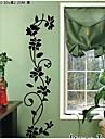klassiska svarta blommor vinstockar vägg dekal zooyoo8139 dekorativa adesivo de parede avtagbar vinylväggklistermärke