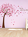 stickers muraux autocollants de mur, mignon PVC colore amovibles les rouges chanceux mur d\'arbre autocollants.