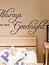 alltid kyssa mig godnatt citat väggdekal zooyoo2003 dekorativa adesivo de parede flyttbar vägg klistermärke