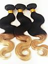 """3pcs lot 12 """"-26"""" bresilien ombre vierge deux t1b / 27 corps des faisceaux de cheveux de vague de couleur de tonalite"""
