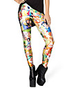 Women Print Legging , Cotton/Cotton Blends Medium