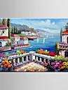 HANDMÅLAD Blommig/Botanisk / Abstrakta landskapParfymerad / Europeisk Stil En panel Kanvas Hang målad oljemålning For Hem-dekoration