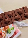 bakeware silikonstjärnformad bakformar för choklad lollipop
