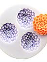 ustensiles de cuisson en forme de fleur de silicone moules de cuisson pour gateau fondant bonbons de chocolat (couleurs aleatoires)