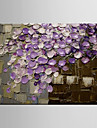 oljemålning blommor / botaniska målningar blomsterdekoration abstrakt handen målade med sträckt inramade m / l / xl