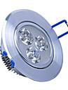3W LED spotlight 3 hög effekt ledde 240lm varmvit / kallvit ac 85-265v Yangming 1 st