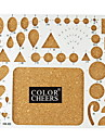 mall för make quilling papper diy konsthantverk dekoration (slumpmässig färg, 21x18cm)