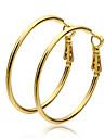 Cercei Rotunzi  Auriu Circle Shape Auriu Bijuterii Pentru 2pcs