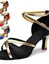 Chaussures de danse(Noir Bleu Marron Rouge) -Personnalisables-Talon Personnalise-Similicuir-Latine Salon