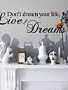 Ne revez pas votre vie murales maison de decoration autocollants decoratifs zooyoo8142 vinyle amovible stickers muraux