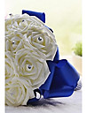 Top Quality Cream And Elegant Hand Made Decorative Artificial Crystal Beaded Flower Bride Vestidos Wedding Bouquets
