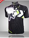 Bouger® Maillot de Cyclisme Homme Manches courtes VeloRespirable / Design Anatomique / Resistant aux ultraviolets / Zip frontal / Haute
