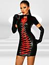 Costumes de Cosplay Uniformes Fete / Celebration Deguisement Halloween Noir Robe Halloween / Carnaval Feminin Cuir polyurethane