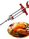la viande saveur de la marinade injecteur seringue sauce assaisonnement gadget aiguille dinde bbq (couleur aleatoire)