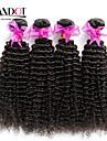 """8 """"-30"""" naturligt svart 6a peruanska lockigt hår väva 4st / lot 100% obearbetade peruanska jungfru kinky lockigt hår"""