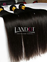 """4 st mycket 8 """"-30"""" indian jungfru rakt hår obearbetade råvaror wefts naturligt svart människohår väva buntar härva gratis"""