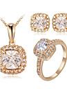 Set bijuterii Cristal Cristal Zirconiu Cubic imitație de diamant Aliaj Clasic Nuntă Petrecere Zilnic Casual 1set Coliere Σκουλαρίκια Inele