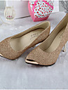 Women\'s Shoes Leather Kitten Heel Heels/Pointed Toe/Closed Toe Pumps/Heels Dress/Casual Black/Green/Red/Beige