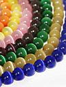 beadia 120pcs moda 6mm rotunde pisică sticlă ochi margele 9 culori pentru a alege (culoare aleatorii)