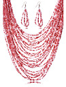 Lănțișor/Σκουλαρίκια (Aliaj/Zirconiu Cubic/Acril/Piete Prețioase & Cristal) Damă - Vintage/Petrecere/Birou/Casual