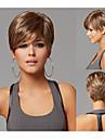 pixie cut frisyrer korta raka syntetiska peruker för kvinnor