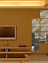 6st fyrkantiga formad DIY spegel väggdekorationer konst dekaler (16 * 16cm)