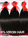 """3 st lot 8 """"-30"""" brasilianska obearbetade råvaror rakt jungfru hårwefts naturliga svart remy människohår väva buntar tjocka"""