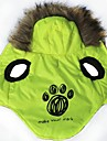 Cat / Dog Coat / Hoodie Green Winter Letter & Number / Geometic Cosplay