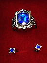 Bijoux Inspire par Black Butler Ciel Phantomhive Anime Accessoires de Cosplay Boucles d\'oreille Bleu Alliage / Gemmes artificielles