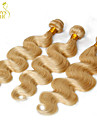 """3 pcs beaucoup 12 """"-30"""" blanchiment de platine 613 cheveux blonde vierge vague de corps de Remy de Bresilien faisceaux de tissage de"""