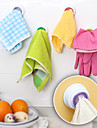 concu cuisine porte-serviette en tissu crochet auto-adhesive (couleur aleatoire)