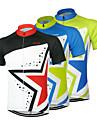 Arsuxeo Maillot de Cyclisme Homme Manches courtes Velo Maillot Hauts/Tops Sechage rapide Design Anatomique Zip frontal Respirable100 %