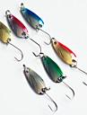 """6 st Metallbete / Fiskbete Metallbete Blandade färger 2.5g g Uns mm/2-1/4"""" tum,Metall Drag-fiske"""
