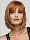 naturlig syntetisk kort Bobo peruk utan bang jordgubb blond färg