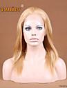 12 \'\' - 24 \'\' blond # 27 farve kinesisk virgin remy menneskehår parykker fuld blonde parykker med Baby hår for hvide kvinder
