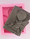Moule de Cuisson Bebe qui dort Pour Gateau Pour Cupcake Pour Tarte Silikon Ecologique Haute qualite Bricolage