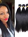 """3pcs / lot 10 """"-30"""" indian jungfru hårfärg naturligt svart rakt människohår väver"""