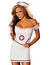 Costumes de Cosplay Costume de Soiree Infirmiere Costumes de carriere Fete / Celebration Deguisement d\'Halloween Blanc Couleur Pleine