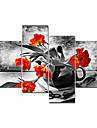 visuell star®red blomma modern duk konstmålning stor mängd vägg bild redo att hänga