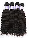 3st / lot brasilianska vinkar djupt jungfru hår 100% obearbetade brasilianska djupt lockigt jungfru hårweften