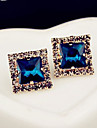 """New Arrival Hot Selling High Quality Rhinestone Crystal Square Earrings"""
